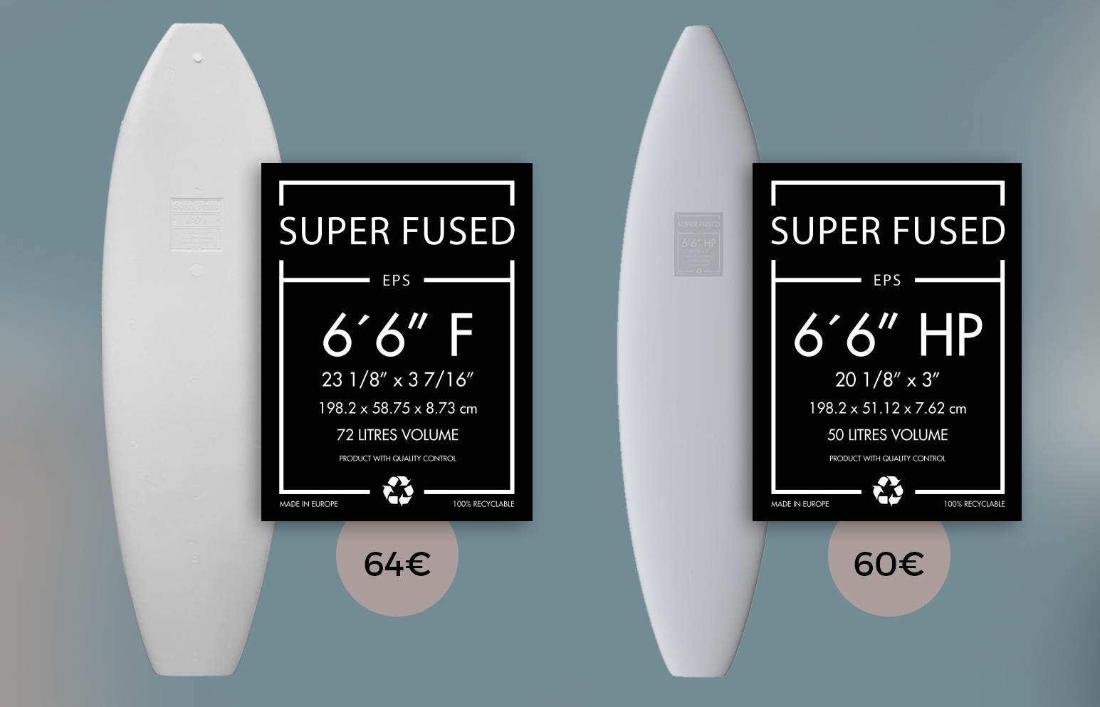 EPS Surf Blanks VIRAL Superfused